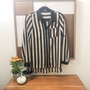 Black & Tan Striped Blouse